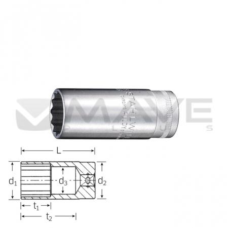 02020016 Nástrčná hlavice 46 16 mm