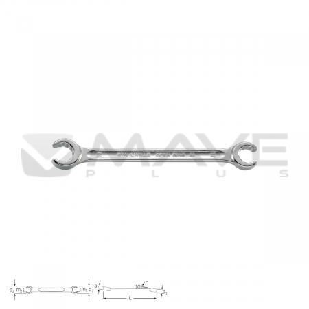 41081719 Oboustranný otevřený prstencový klíč 24 17 x 19 mm