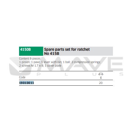19010011 Náhradní díly pro ráčny č. 415B, 415SGB