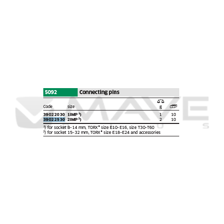 39022530 Spojovací kolíky 5092 2IMP